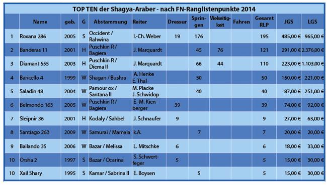 TOP TEN Shagya-Araber